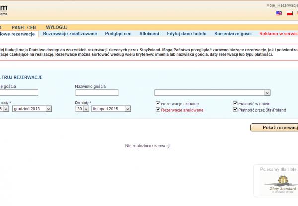 Zarządzanie ceną i allotmentem StayPoland.com w Hotele.pl