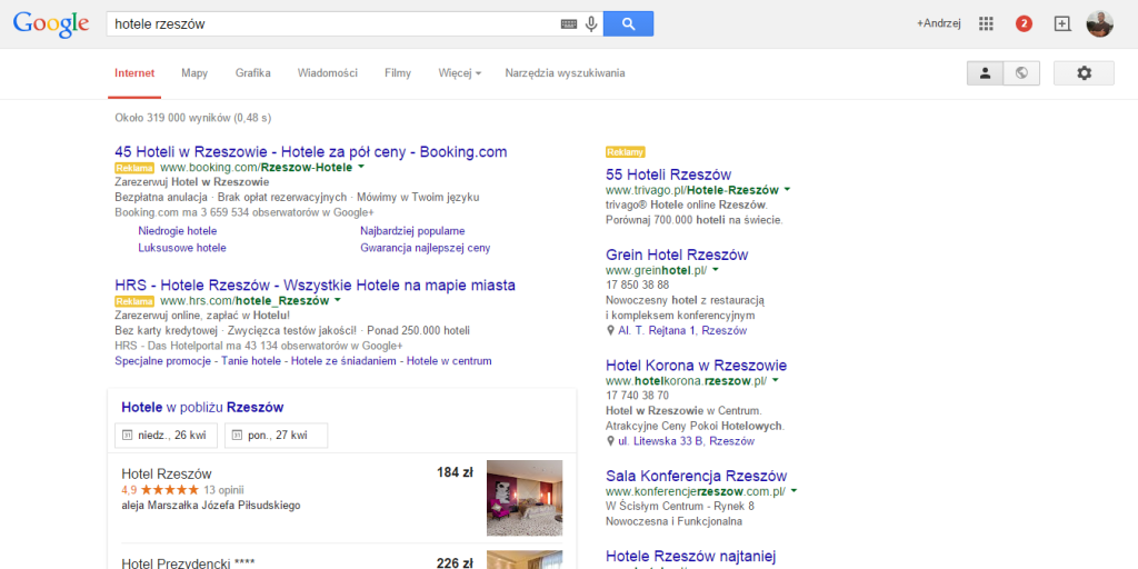 google_nowe_SERP_hoteli_1-hotelarstwo.net