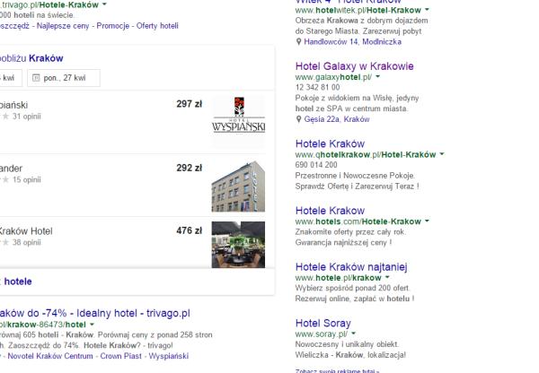 Nowy sposób prezentowania wyników wyszukiwania hoteli w Google